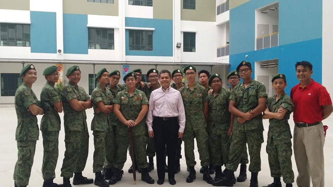 Principal with NCC cadets from Hai Sing Catholic High School.jpg